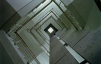 階段室見上げ