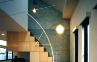 2階ファミリールームから階段を望む