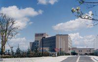 移転新築 西側市道よりみた病院全景